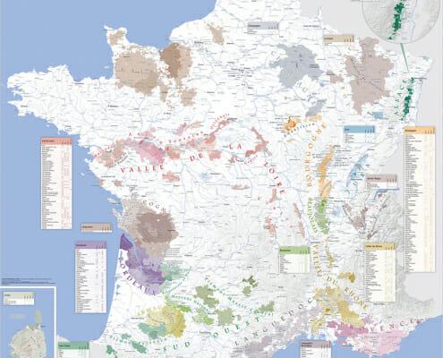 Carte des vins de France par Blay-Foldex