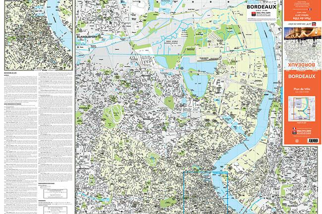 Plan de ville blay foldex de bordeaux