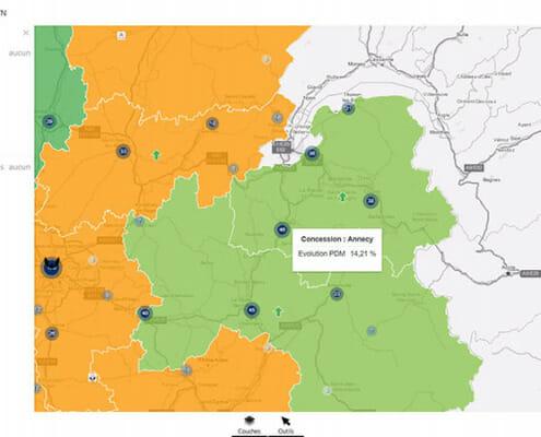 digitalisation de la relation client : carte des concessions