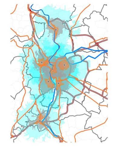 etude d'implantation d'accueil physique sur la metropole de Lyon