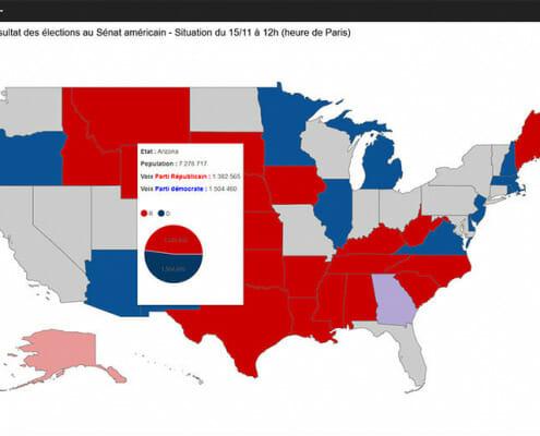Carte thematique de l'election americaine 2020