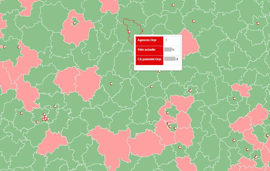 Carte de zones définies comme prioritaire par le Plan national de développement