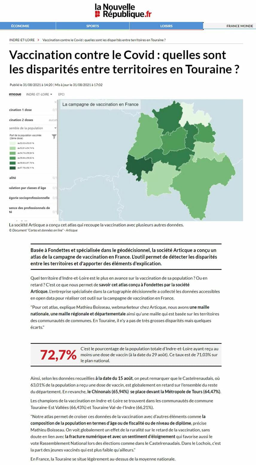 les disparites territoriales lors de la campagne de vaccination