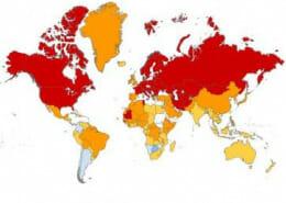 miniature carte interactive du rechauffement climatique