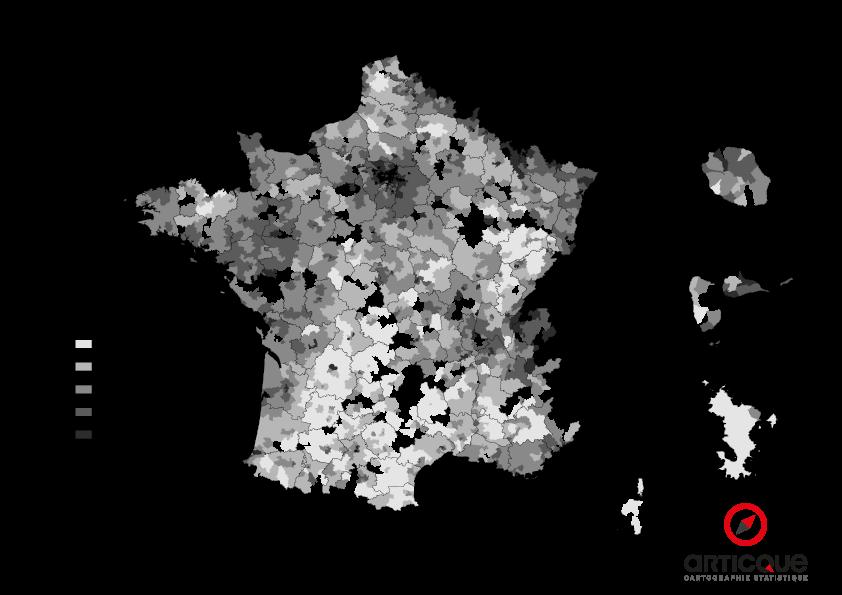 Départementales 2015 - Tour 2 : % d'abstention par cantons